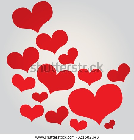 Love hearts, A collection of love hearts vector. - stock vector