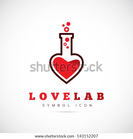 Love lab logo template - stock vector
