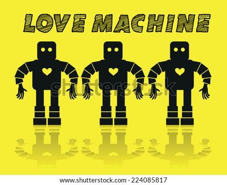 Love Machine background - stock vector