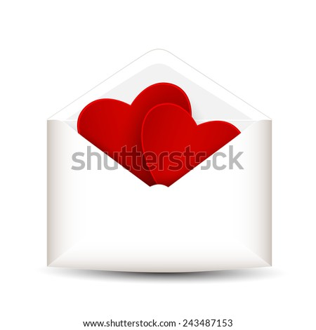 Love mail on a white background  - stock vector