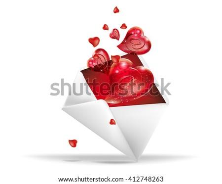 love posting - stock vector