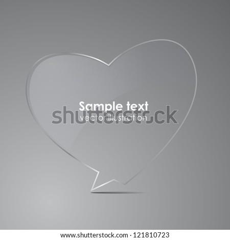 Love - realistic glass speech bubble. Vector illustration. - stock vector