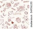Love Seamless Doodles - stock vector