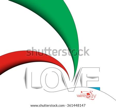 Love Text Design, vector Element. - stock vector