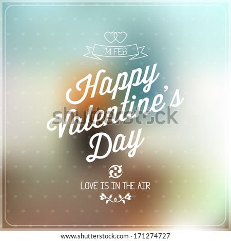 Love Vector, Happy valentines day label for card design - stock vector