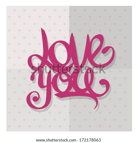 Love you - stock vector