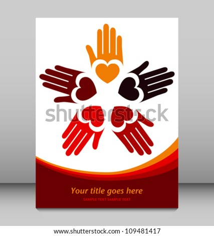 Loving hands design vector. - stock vector