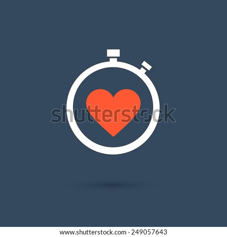 Loving Time - stock vector