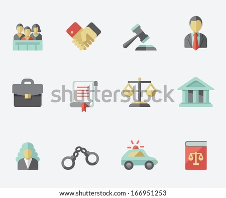 Low icons - stock vector