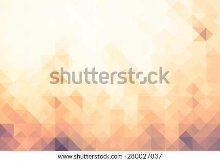 Low Poly Concept.Vintage photo and Abstract blurred background.Brown and gray grass in sunset warm light and lens flare - stock vector