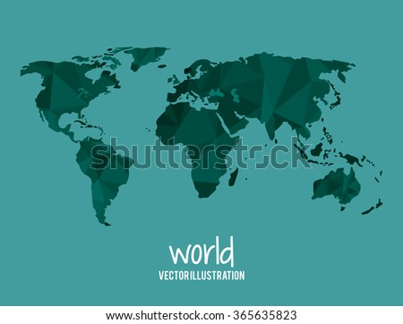 Low Poly planet design  - stock vector