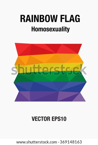 Low Polygon Abstract Vector - The Rainbow flag, Homosexual, gay and love concept - stock vector