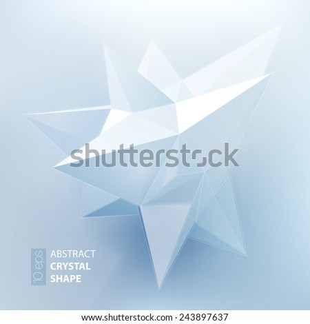 Low polygon geometry shape. Vector illustration - stock vector