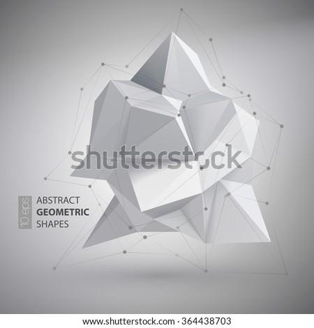 Low polygon geometry shape. Vector illustration EPS10 - stock vector