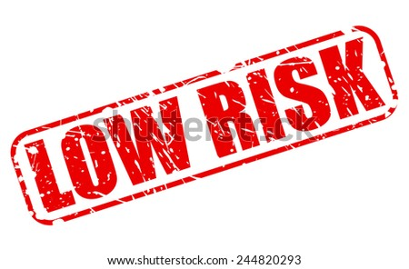Low risk red stamp text on white - stock vector