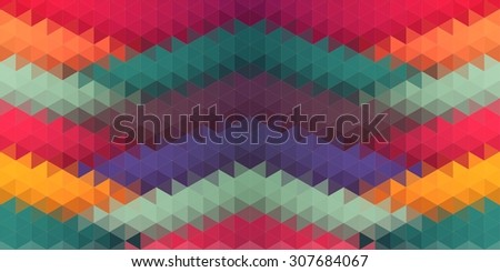 Lowpoly abstract composition with triangle shapes for your web design  - stock vector