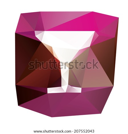 Lowpoly vector illustration with colorful background - stock vector
