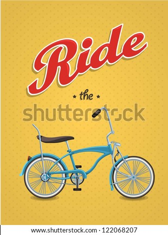 lowrider bike background,vector bicycle, - stock vector