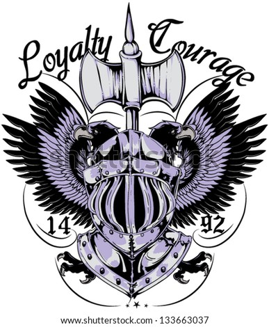 Loyalty and courage - stock vector