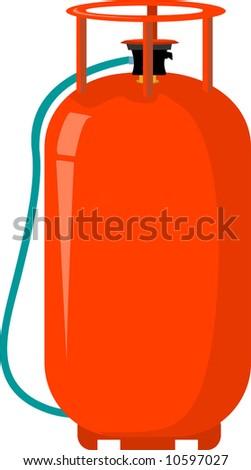 LPG cylinder - stock vector