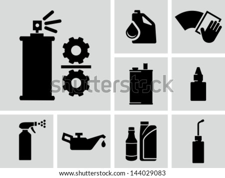 Lubricants vector icons  - stock vector