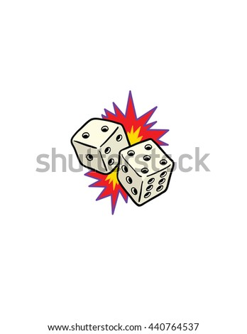 lucky dice - stock vector