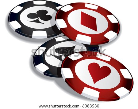 Lucky poker - stock vector