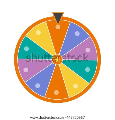 Lucky wheel, close up, vector illustration eps10 - stock vector