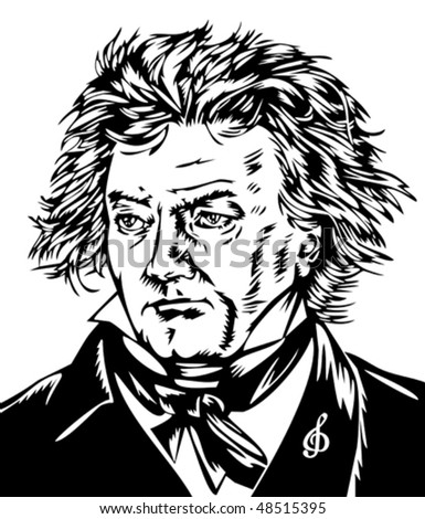 Ludwig von Beethoven - stock vector