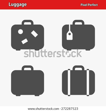 Luggage Icons. Professional, pixel perfect icons optimized for both large and small resolutions. EPS 8 format. - stock vector