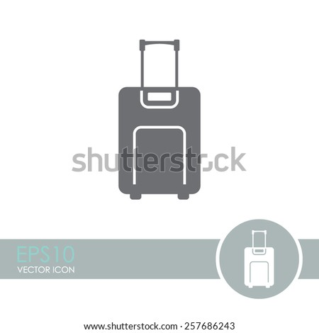 Luggage vector icon. - stock vector