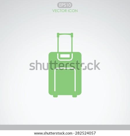 Luggage vector icon. - stock vector