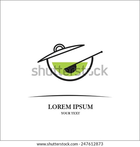 Lunch pot - stock vector