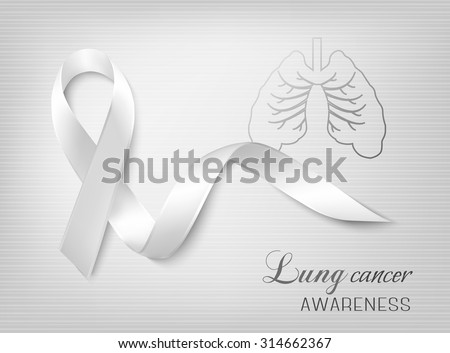 Lung cancer awareness ribbon. Vector. - stock vector