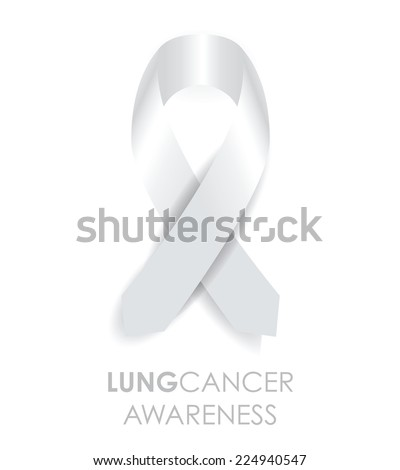 lung cancer ribbon - stock vector