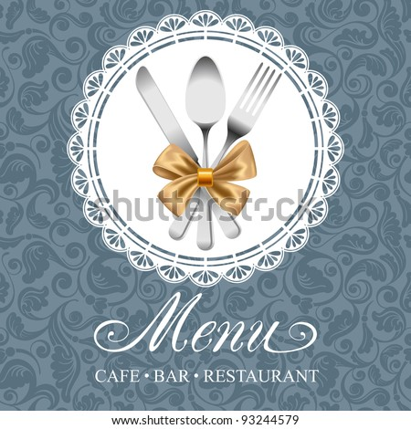 Luxurious backdrop for the menu - stock vector