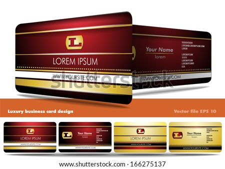 Luxury business card design - stock vector