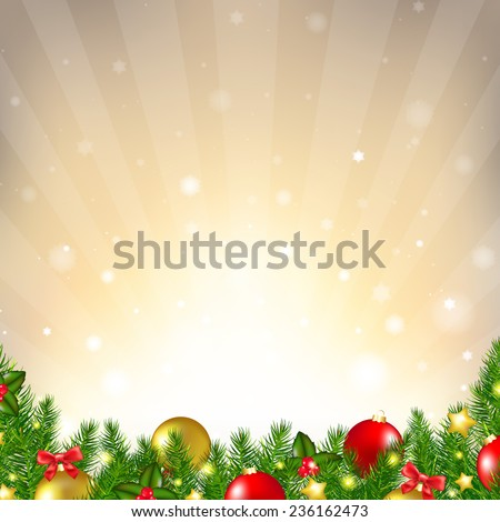 Luxury Christmas Background With Gradient Mesh, Vector Illustration - stock vector