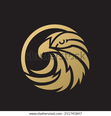 Luxury Eagle Logo, Eagle Logo,vector logo template - stock vector