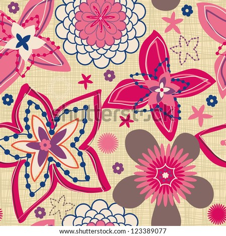 Luxury monochrome card with Floral design elements, seamless background, Lace design - stock vector