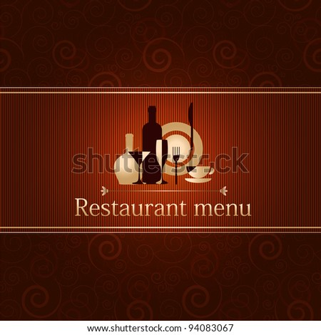 luxury template for a restaurant menu - stock vector