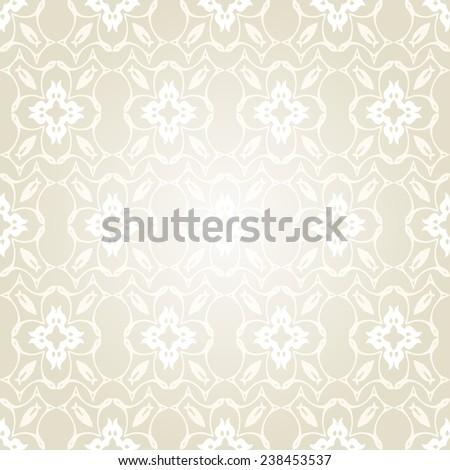 Luxury Victorian style  seamless pattern on white background .Vector illustration  - stock vector