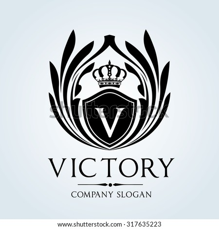 Luxury Vintage, Crests logo,Crest. Business sign, victory,Restaurant logo, Royalty Brand, Boutique, Hotel, Heraldic,education, Fashion ,Real estate,Resort,King, vintage, property,Vector logo template - stock vector