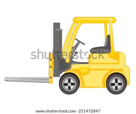 Machine for loading heavy cargo on white background  - stock vector