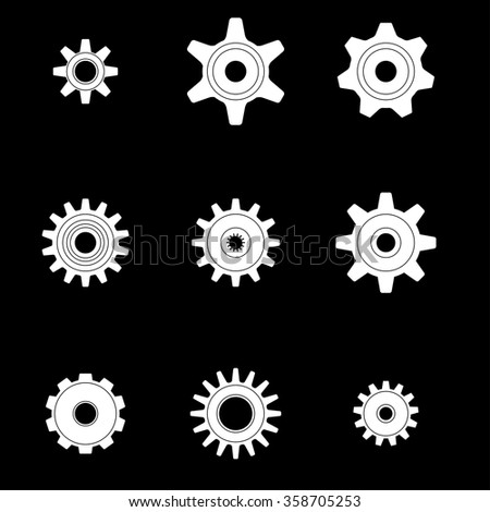 Machine Gear Wheel Cogwheel. Vector Illustration. - stock vector