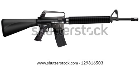 Machine gun eps10 - stock vector