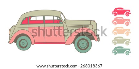 machine in retro style on white background vector - stock vector