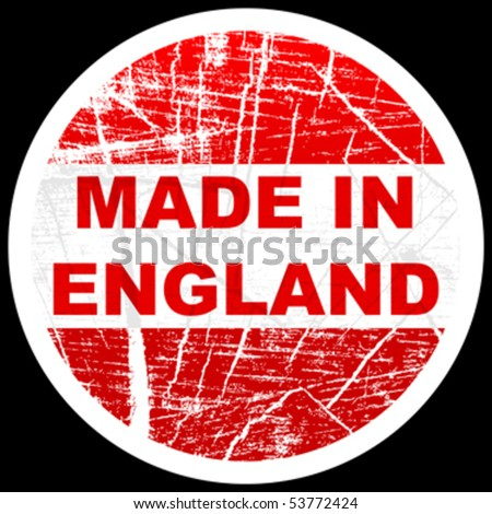 made in england - stock vector