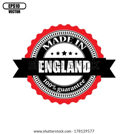Made in England labels, badges, stickers and symbols - Vector Eps 10. - stock vector