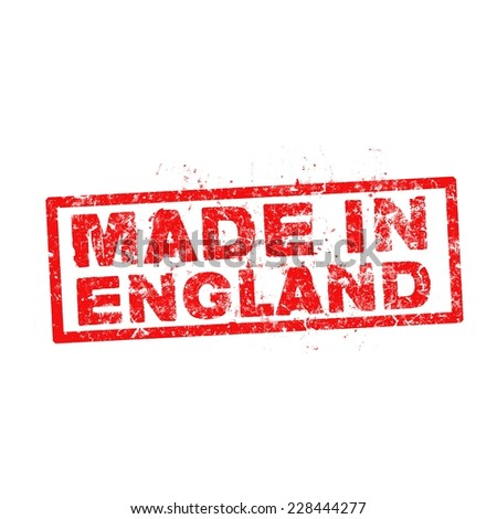 made in england red stamp vector. - stock vector